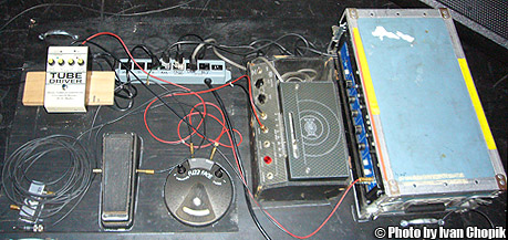Eric's pedalboard on the 2008 Experience Hendrix Tour