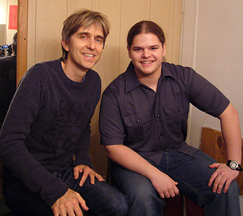 Ivan Chopik with Eric Johnson in 2008