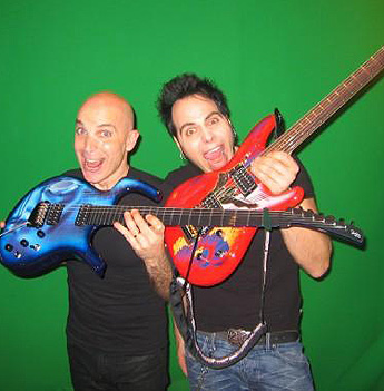 Dave Martone and Joe Satriani