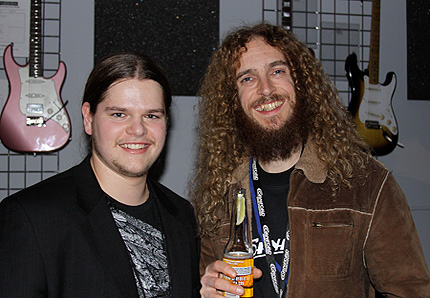 Ivan Chopik with Guthrie Govan in 2009