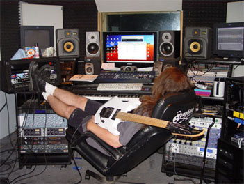 Michael Romeo in the Symphony X Studio