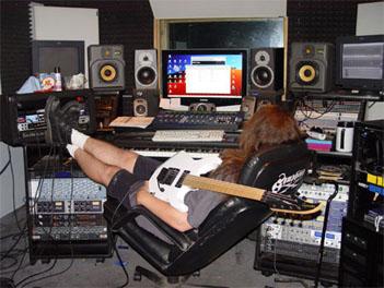 Michael Romeo in the Symphony X Studio