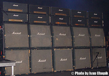 Yngwie's live amp rig at G3 2003