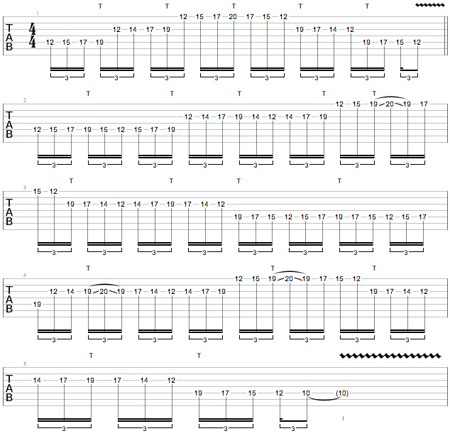 Scar Symmetry - String-Skipping Tapping Minor Pentatonic