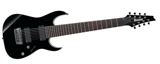 Ibanez Iron Label RGIR28FE 8-String Electric Guitar with EMG Pickups Black