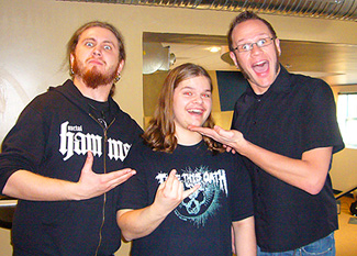 Ivan Chopik with Joel Stroetzel and Adam D in 2008