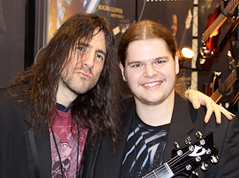 """Ivan Chopik with Ron """"Bumblefoot"""" Thal in 2009"""