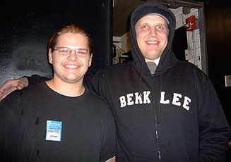 Ivan Chopik with Joe Bonamassa in 2007