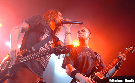 Alter Bridge Singer/Co-Guitarist Myles Kennedy with Mark Tremonti