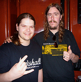 Ivan Chopik with Mikael Åkerfeldt in 2008