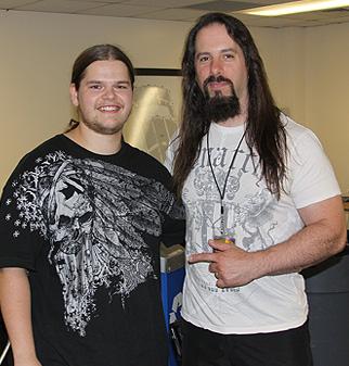 Ivan Chopik with John Petrucci