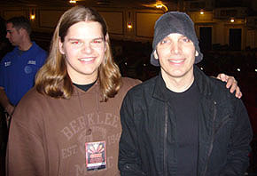 Ivan Chopik with Joe Satriani in 2007