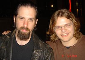 Ivan Chopik with John Petrucci in 2006