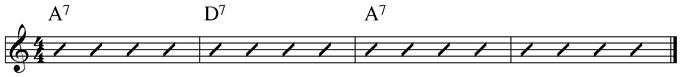 Basic Blues Subs Example 1