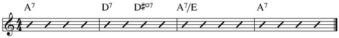 Basic Blues Subs Example 2