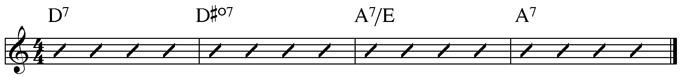 Basic Blues Subs Example 3