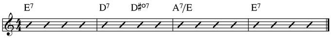 Basic Blues Subs Example 4