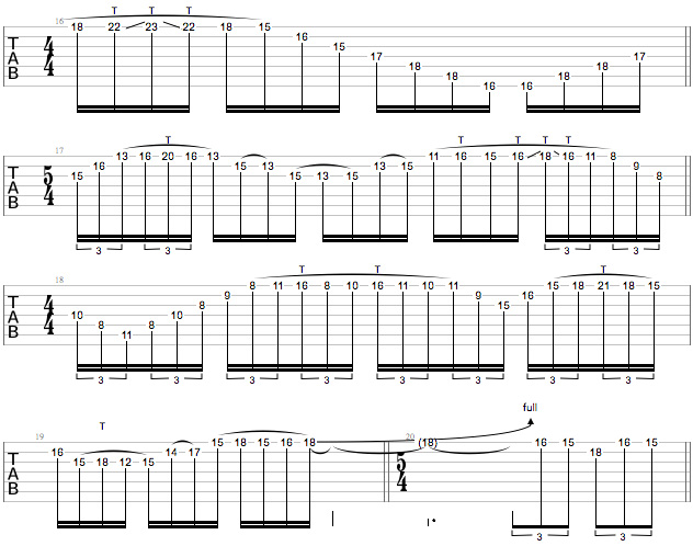 Tony MacAlpine Masterclass - Ex 4 b