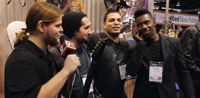 NAMM 2014 - Ivan Chopik, Jake Bowen, Misha Mansoor, Tosin  Abasi